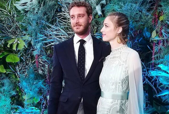 Princess Alexandra's dress was the dress that had been worn by Charlotte Casiraghi. Beatrice Borromeo wore a lace dress by Alberta Ferretti