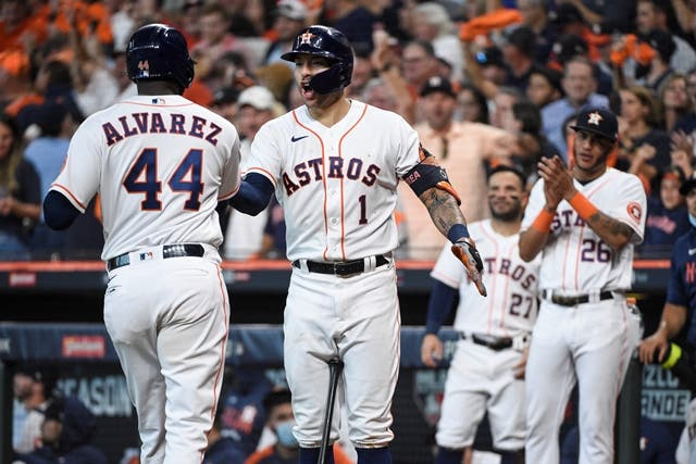 Los Astros y Tampa inician ganando inicio Serie Divisional Liga Americana.