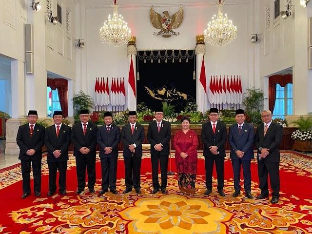 Presiden Jokowi lantik 9 Anggota Kompolnas 2020-2024,Termasuk Menteri Yasonna Laoly