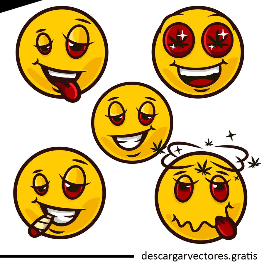 vectores de emoticones humeados