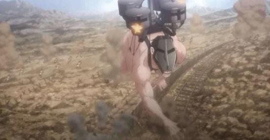 The Cart Titan in attack on titan