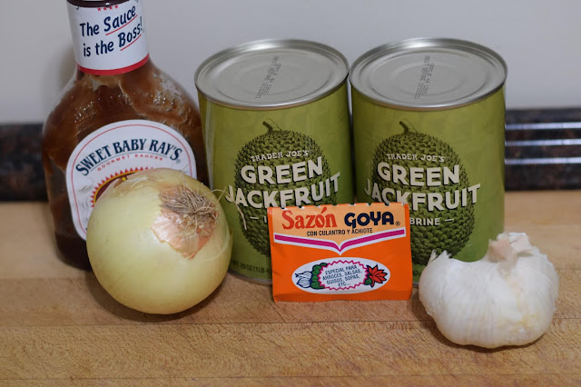 The ingredients needed to make the BBQ Jackfruit sandwiches.