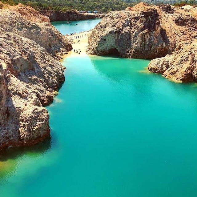 Adventure Park em Cristalina Goiás, foto da Lagoa dos Cristais