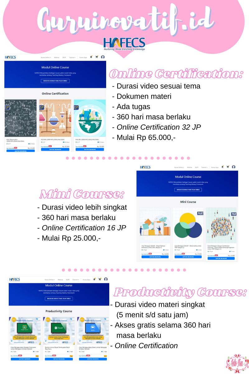 pilihan kursus online di Guru Inovatif.id