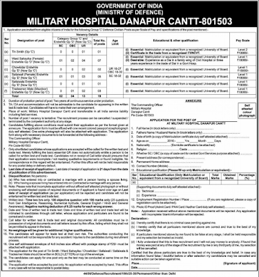 Military-Hospital-Danapur-recruitment-advt-2017-for-Ward-Sahayika