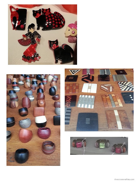 Costume jewelry shopping in Paris - ceramics, wood, and semi-precious stones