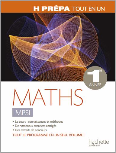 Livre : Maths MPSI, 1ère année - Marie Allano-Chevalier PDF