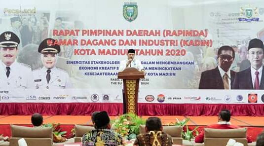 Rapimda Kadin Kota Madiun, Walikota Madiun Ajak Pengusaha Besar Bantu Pelaku Usaha Kecil