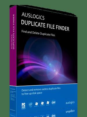 Auslogics Duplicate File Finder Box Imagen