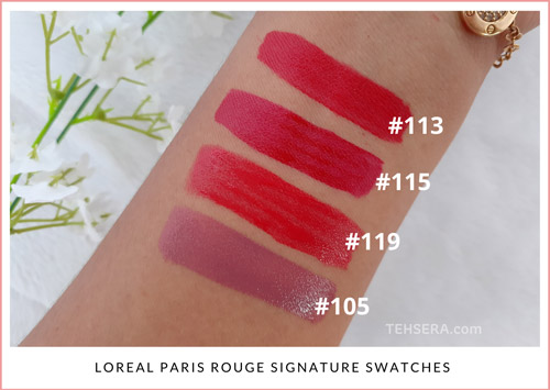 rouge signature swatches