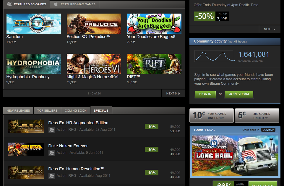 SCS Software's blog: American Long Haul featured on Steam!