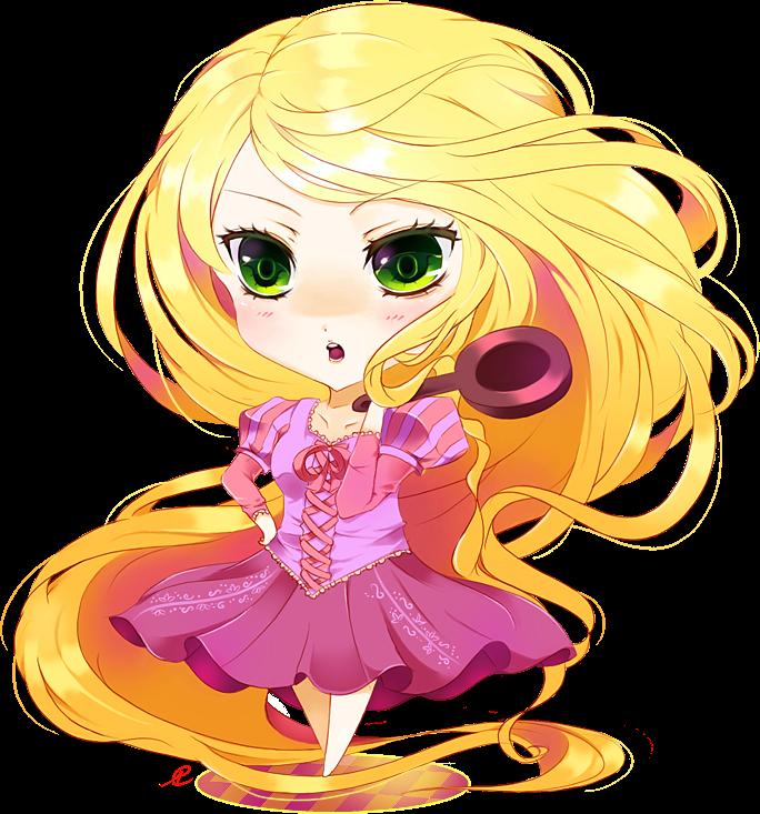 princess Rapunzel chibi công chúa tóc mây 7