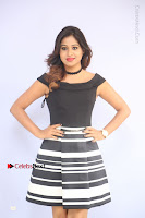 Actress Mi Rathod Pos Black Short Dress at Howrah Bridge Movie Press Meet  0015.JPG