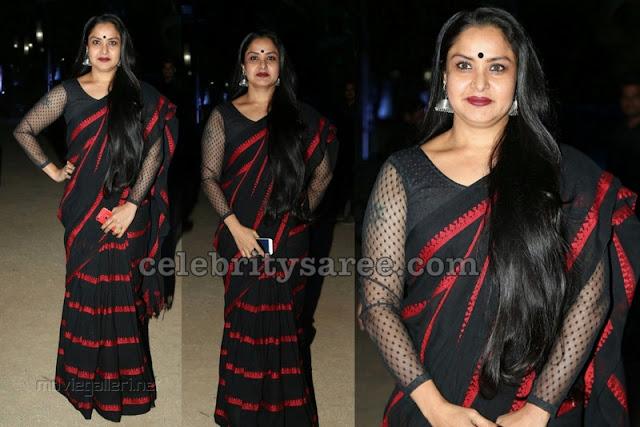 Pragathi Black Designer Saree