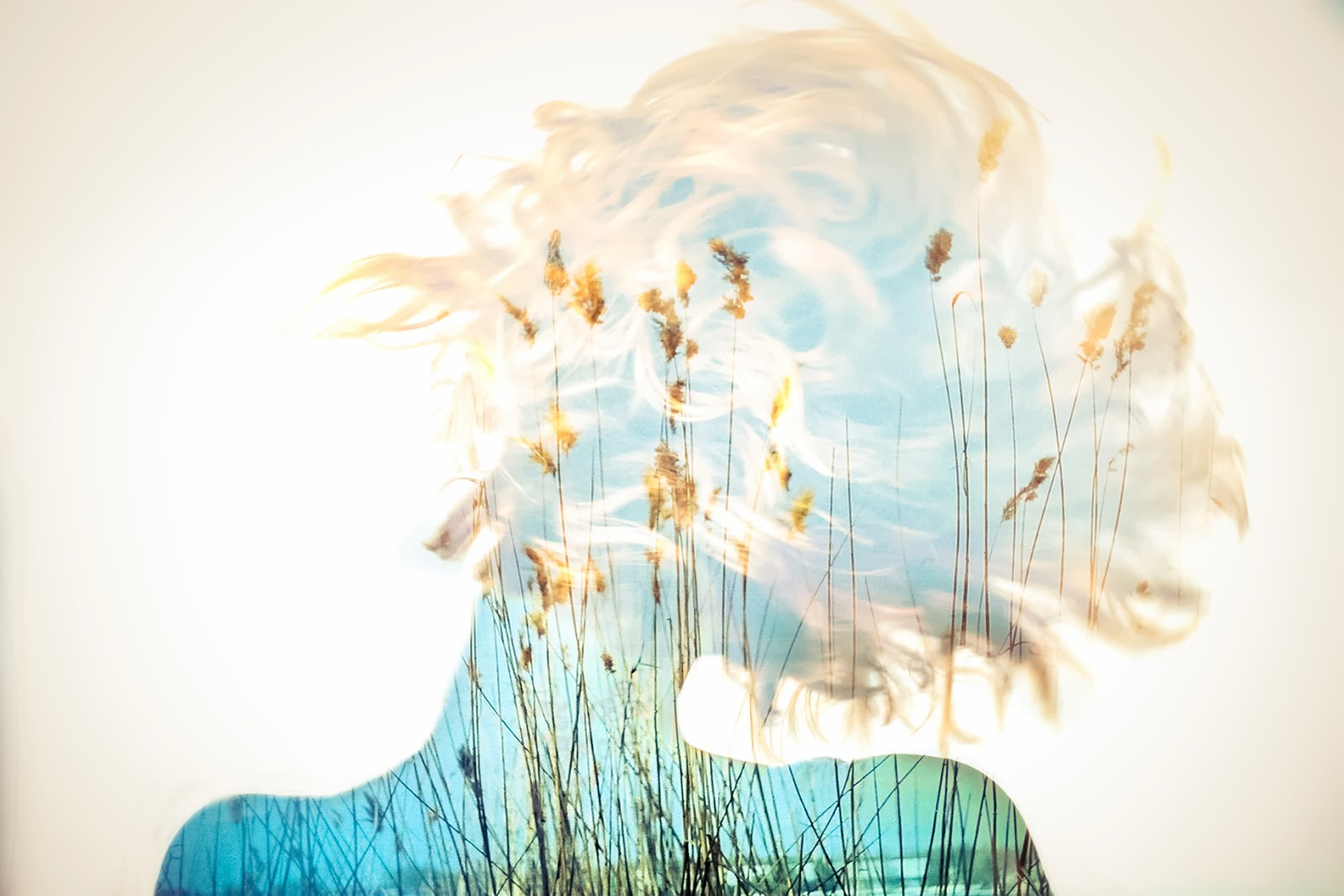 Double, multiple exposure photography. Wind under the skin. Every you is a Universe. Not only one but multiple.So don't be afraid to see them inside yourself, don't be scared to feel and live them. And be brave to let them out and show them to the World. Nina Sinitskaya, Grain Pixels 2014
