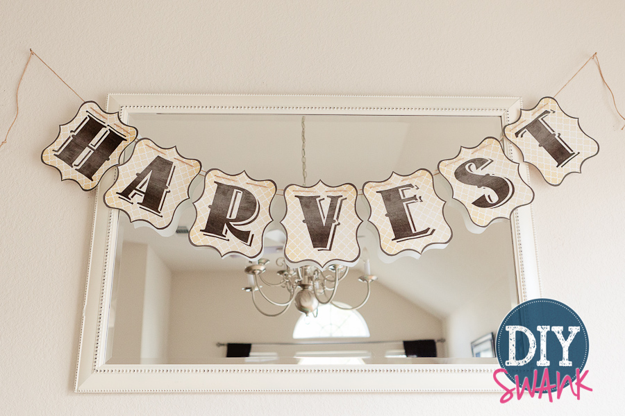 Harvest letters printable