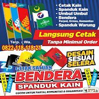 Cetak Sablon Bendera Satuan, Spanduk Kain dan Umbul-umbul Satuan Cilacap Jawa Tengah