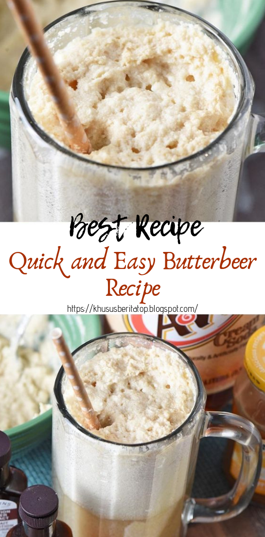 Quick and Easy Butterbeer Recipe #healthydrink #easyrecipe
