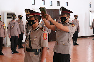 Kapolres Pimpin Serah Terima Jabatan Kasat Intelkam Polres Pinrang