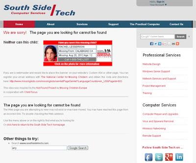South Side Tech Custom 404 Page