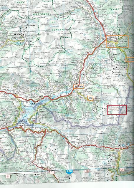 Mapa del Col du Parpaillon