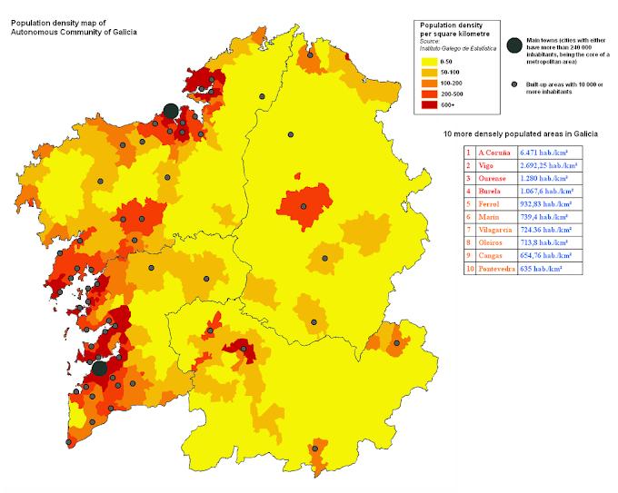 2. Modelo territorial: sistema de cidades e poboación.