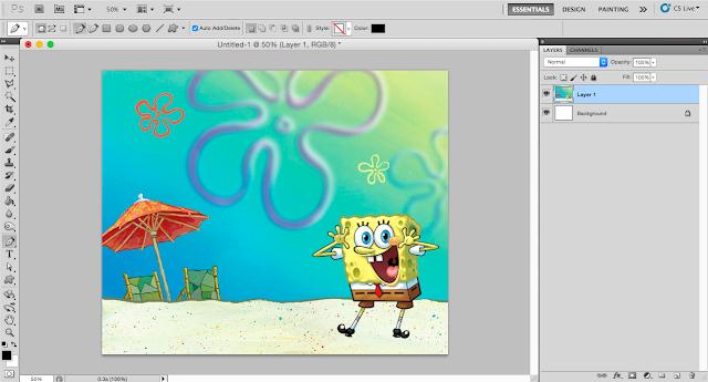 Langkah pertama untuk membuat efek Blur di Photoshop