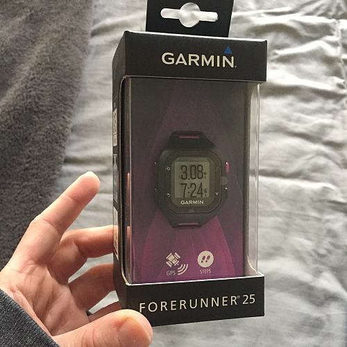 Garmin Forerunner 25 as a prize for cross country