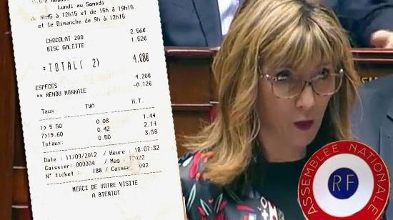 Patrcia Mirallès ticket de caisse