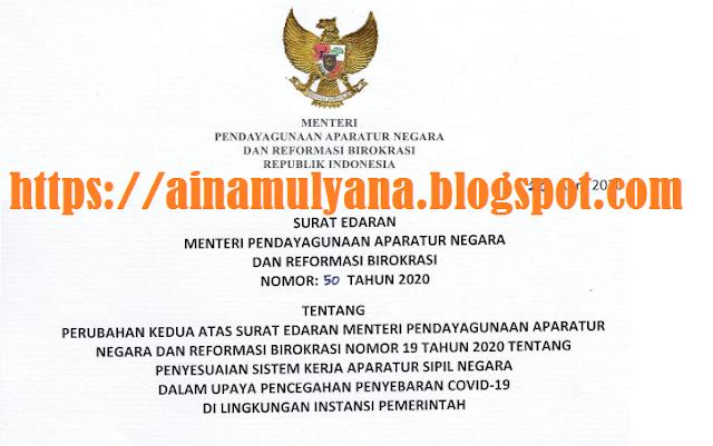 Surat Edaran Menpan RB Nomor 50 Tahun 2020 Tentang Perpanjangan WFH sampai 13 Mei 2020