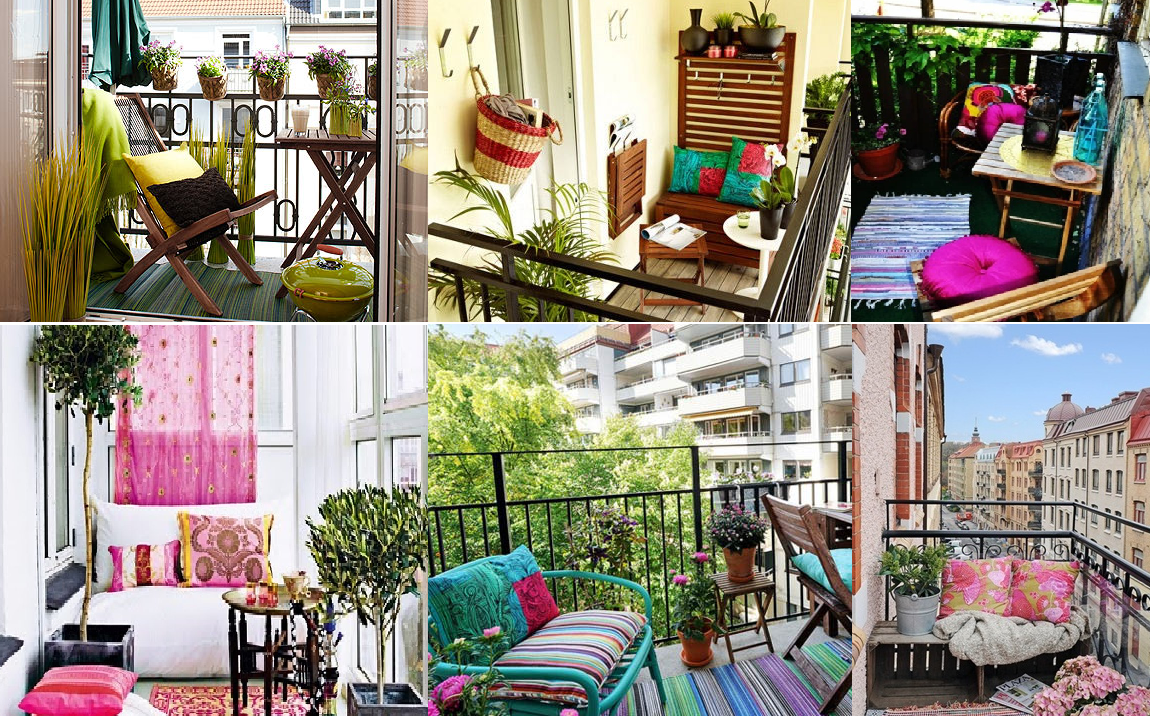 Como decorar un balcon pequeno casas ideas for Como cerrar un balcon