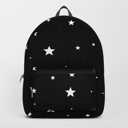 scattered stars backpack white black