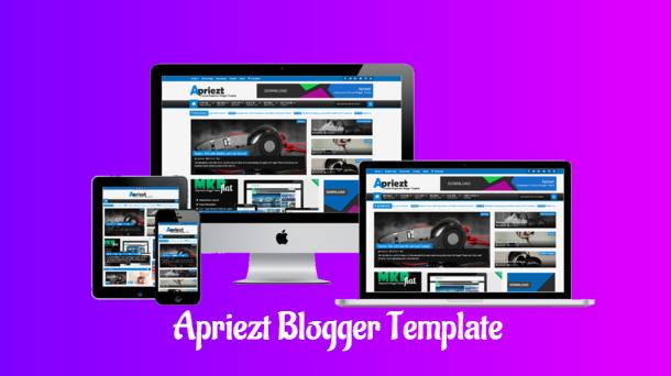 Apriezt Magazine Premium Blogger Template - Responsive Blogger Template