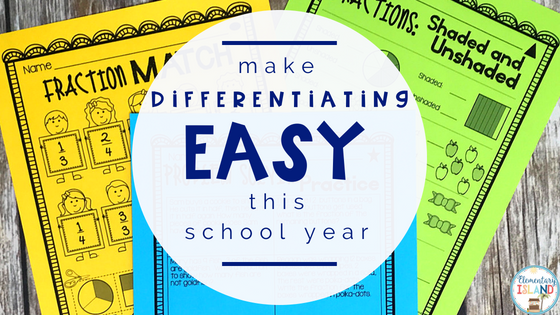 Are you struggling to differentiate your math instruction for your students?  This resource will help make differentiated instruction easier for you to deliver instruction in small groups.  Use these strategies, tools, and ideas to help build your differentiated instruction knowledge. #differentiated #reachalllearners #mathdifferentiation #smallgroups