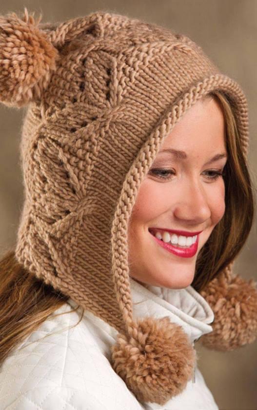 czapka na drutach - wzor
