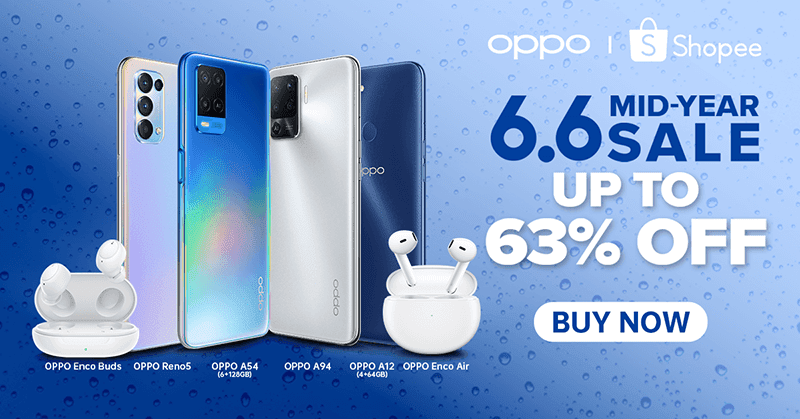 OPPO joins Shopee 6.6 Mid-Year sale with discounts, vouchers, and more
