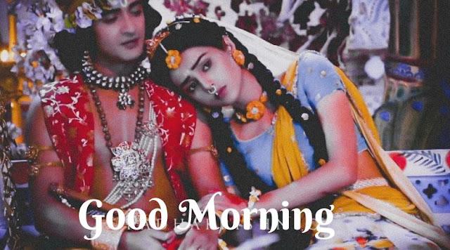 radha krishna good morning image and shayari