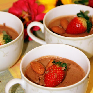 chocolate mousse with great texture and no egg flavor