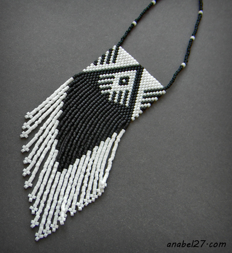 native american inspired pendant jewelry anabel black and white