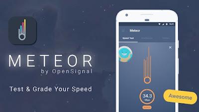 تطبيق Meteor لفحص سرعة الانترنت لهواتف الأندرويد