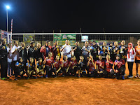 Kepala Staf Kodim 0808/Blitar Serahkan Tropy Juara Volly Danramil Talun Cup