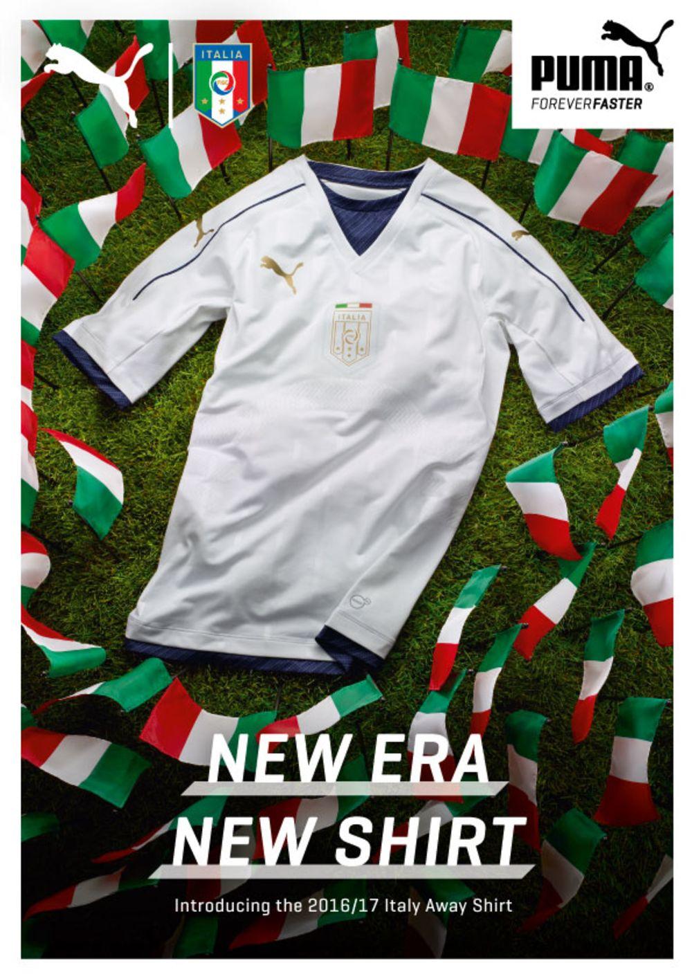 7cafc4970 PUMA e FIGC Federazione Italiana Gioco Calcio hanno rivelato ieri il design  della nuova maglia da trasferta della Nazionale Italiana, che farà il suo  ...