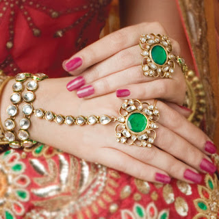 Image Shows that a Beautiful Bride wear a set of Bangles