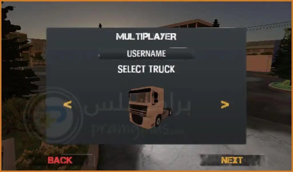 اختيار الشاحنة في لعبة Euro Truck Evolution