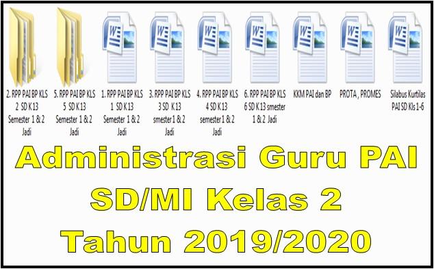 Administrasi Guru PAI SD/MI Kelas 2 Tahun 2019/2020 - Guru Krebet 3