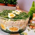 Sałatka jajeczna z szynką i szczypiorkiem
