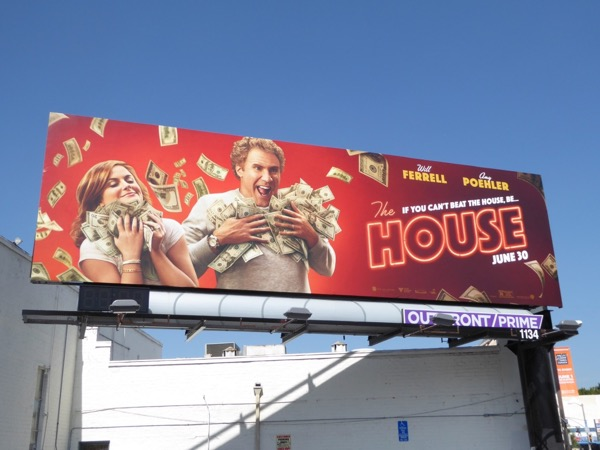 The House film billboard