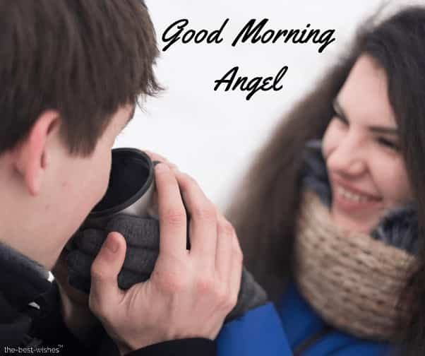 good morning angel couple images