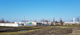 Посёлок Удачное. Парк сельскохозяйственной техники
