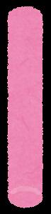 チョークのイラスト(ピンク)